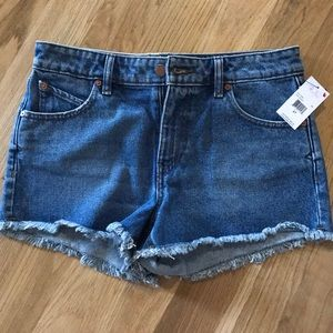 Size 27 Volcom Jean shorts, new with tags